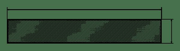 barra alluminio piatta