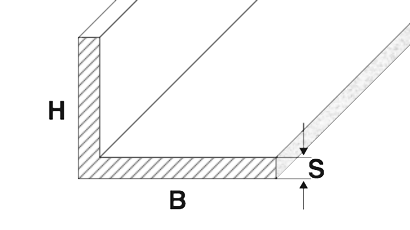 profili alluminio angolari lati disuguali