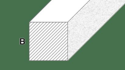 barre quadre alluminio