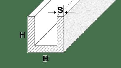 profili alluminio a U