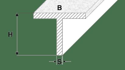 profili alluminio a T