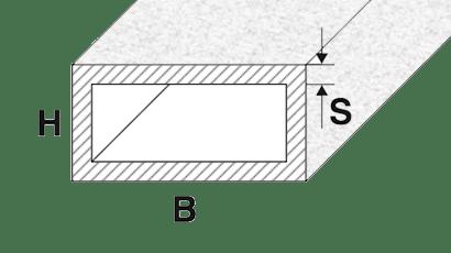 tubi alluminio rettangolari